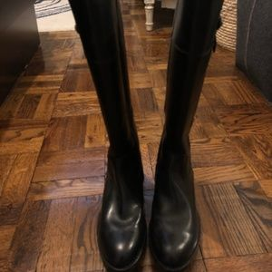 Frye Leather Jayden Button Tall Black Boots